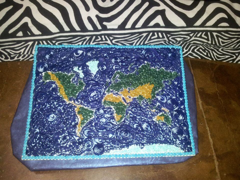 Paper Quilling Wall Decor – World map