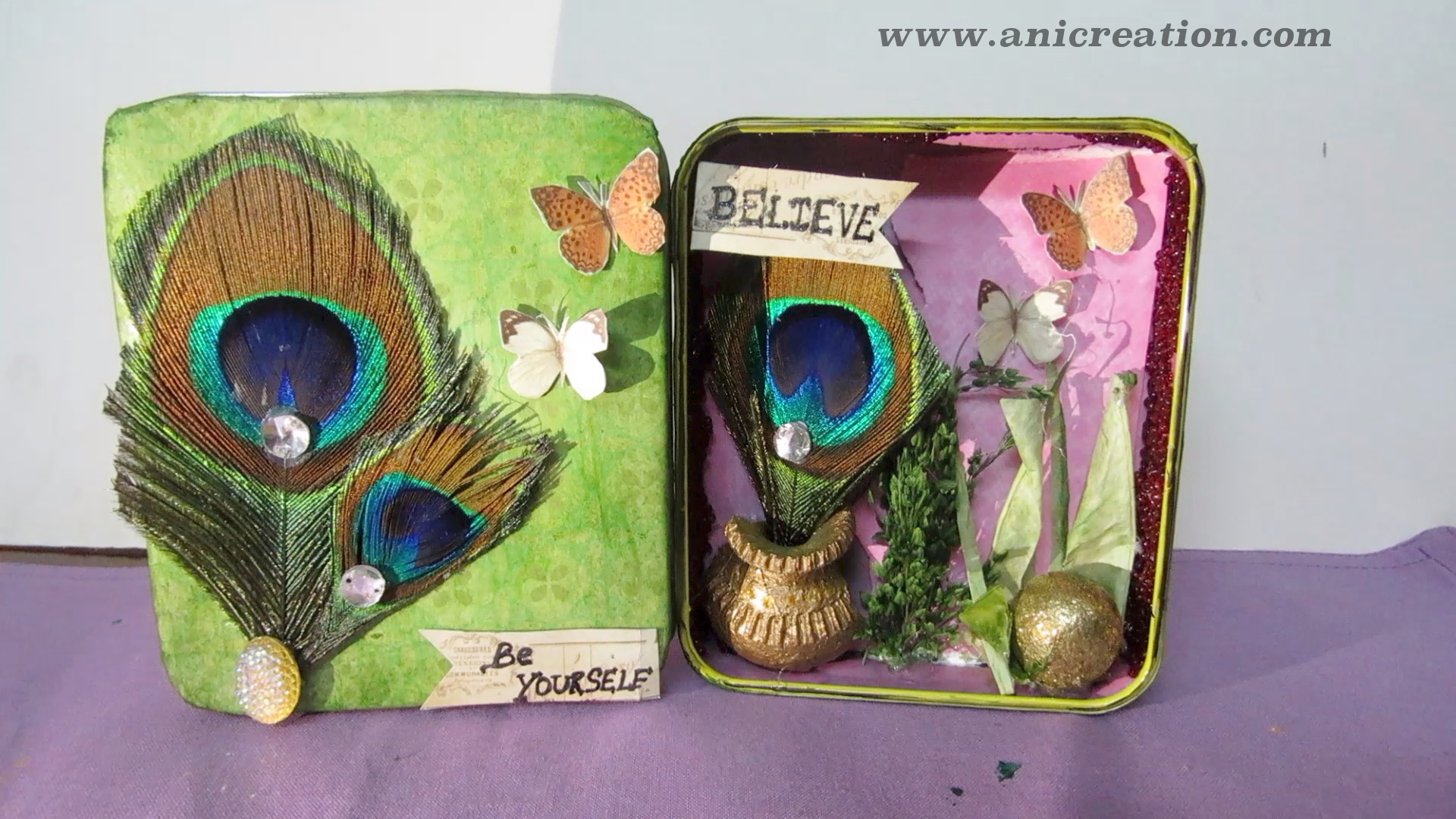 Altered tin box – Distress Mixed media craft