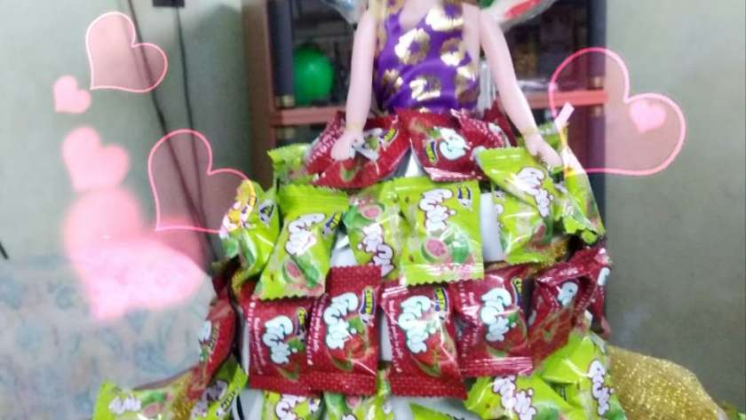 Doll Candy Decor centerpiece for birthday party