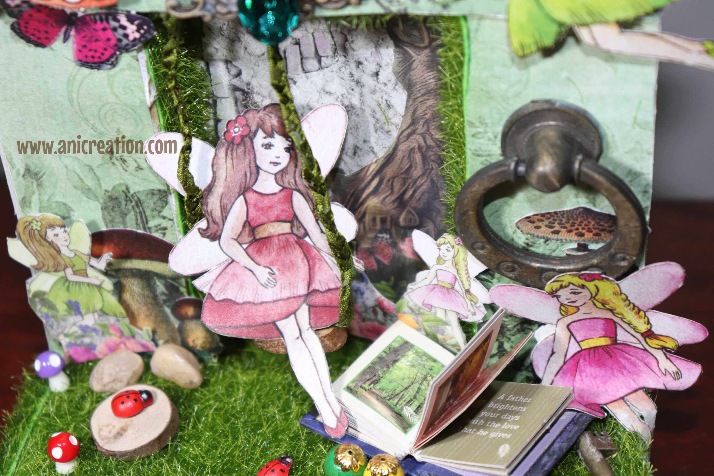 Reverse Canvas Fairy Garden