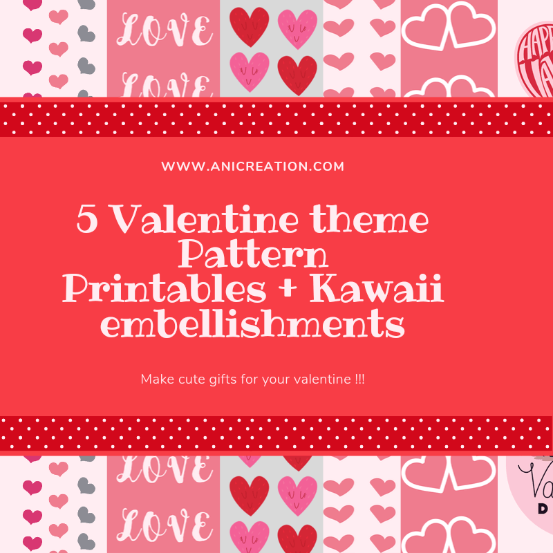 Cute Free Printable Valentine's Papers